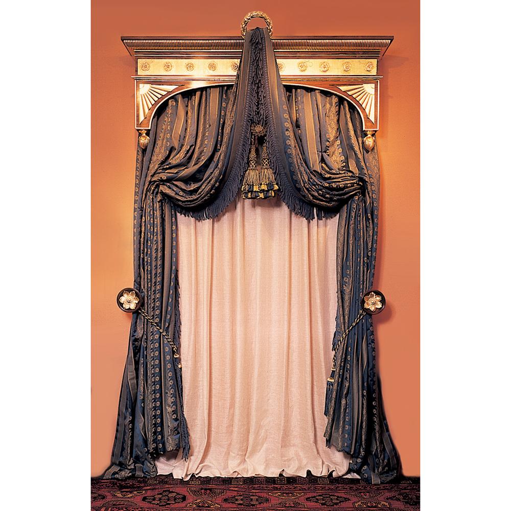 Holland pelmet edward harpley for Wooden curtain pelmets