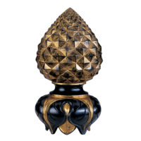 Pineapple & Inverted Leaf Finial