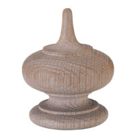 Simple Oval & Point Finial