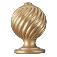 Swirling Ball Finial