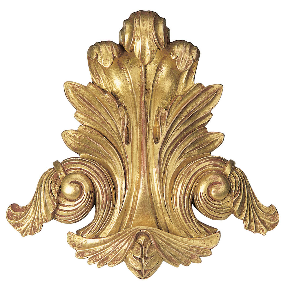 Acanthus centrepiece, antiqued gilt