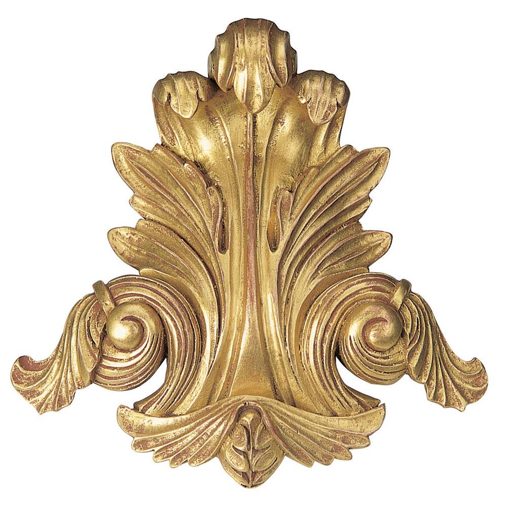 Acanthus centrepiece, antiqued gilt