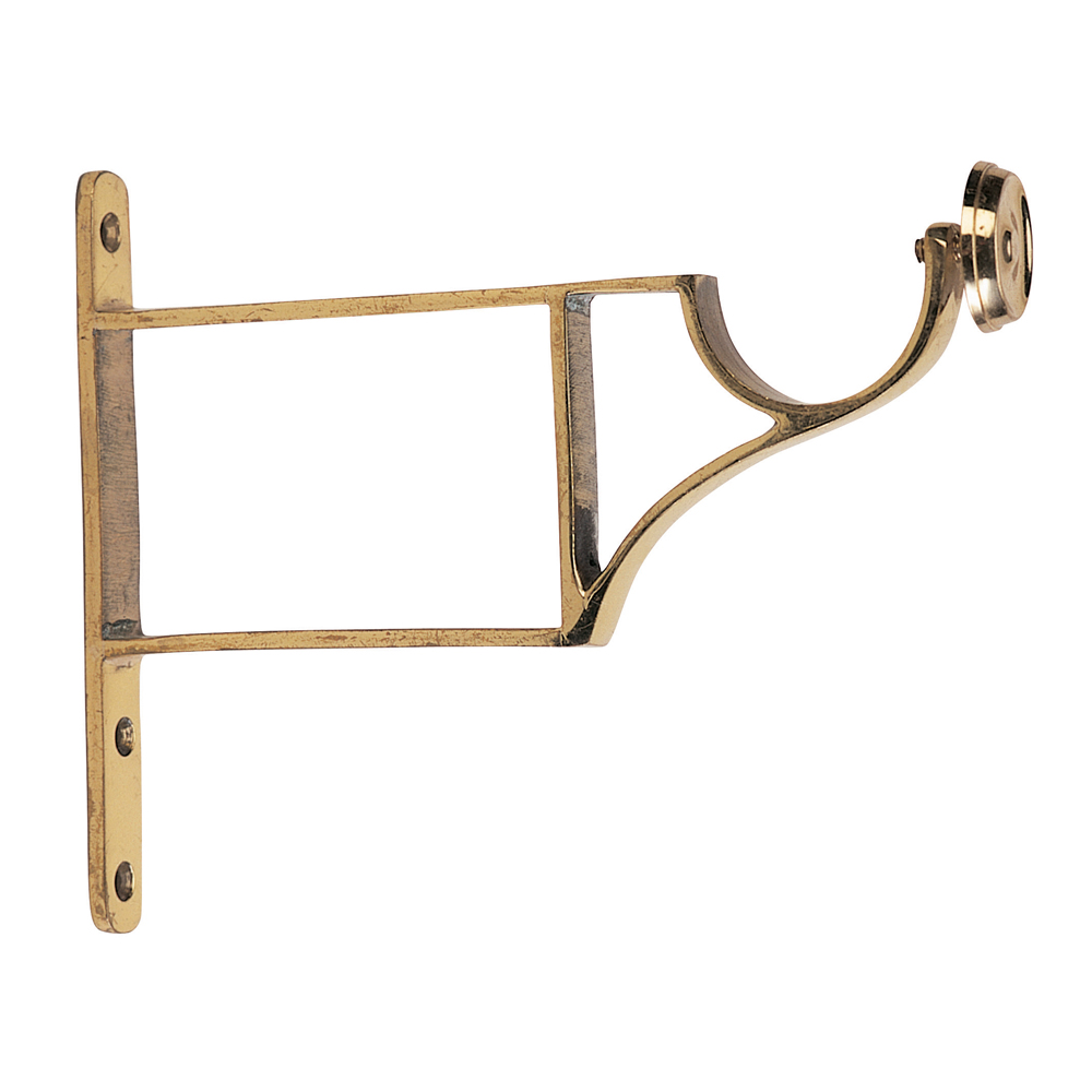 brass extended end bracket