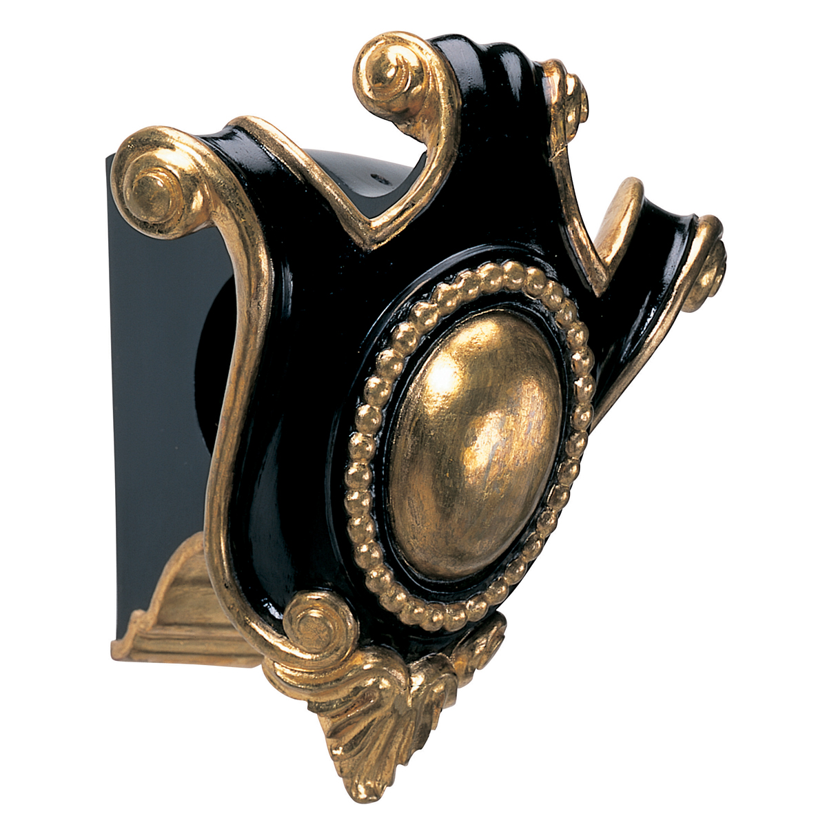 Cartouche bracket, black and Water Gilt Gold Leaf