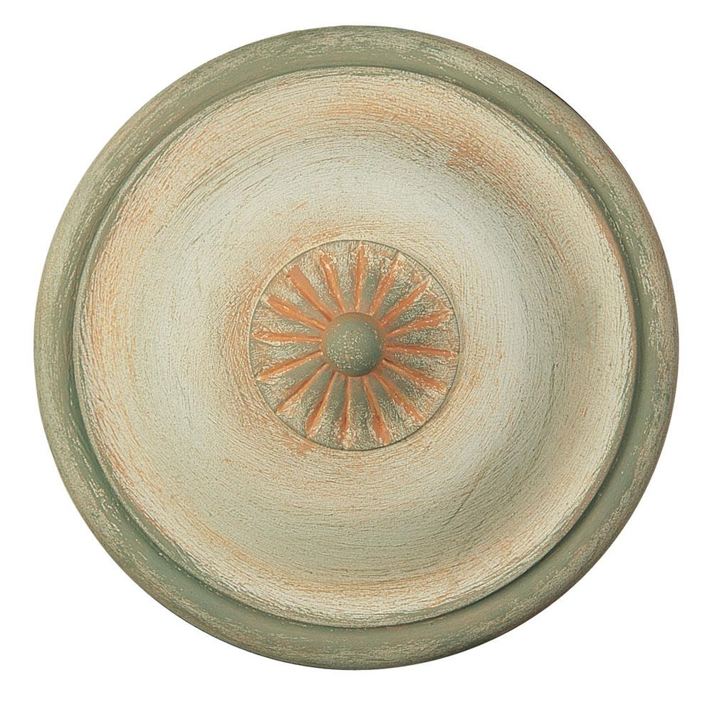 Chinese Vase tieback, painted