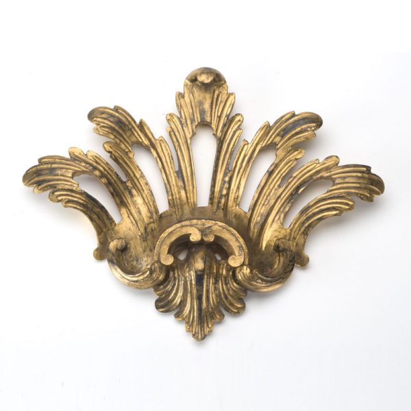 Chippendale centrepiece, distressed black and gilt