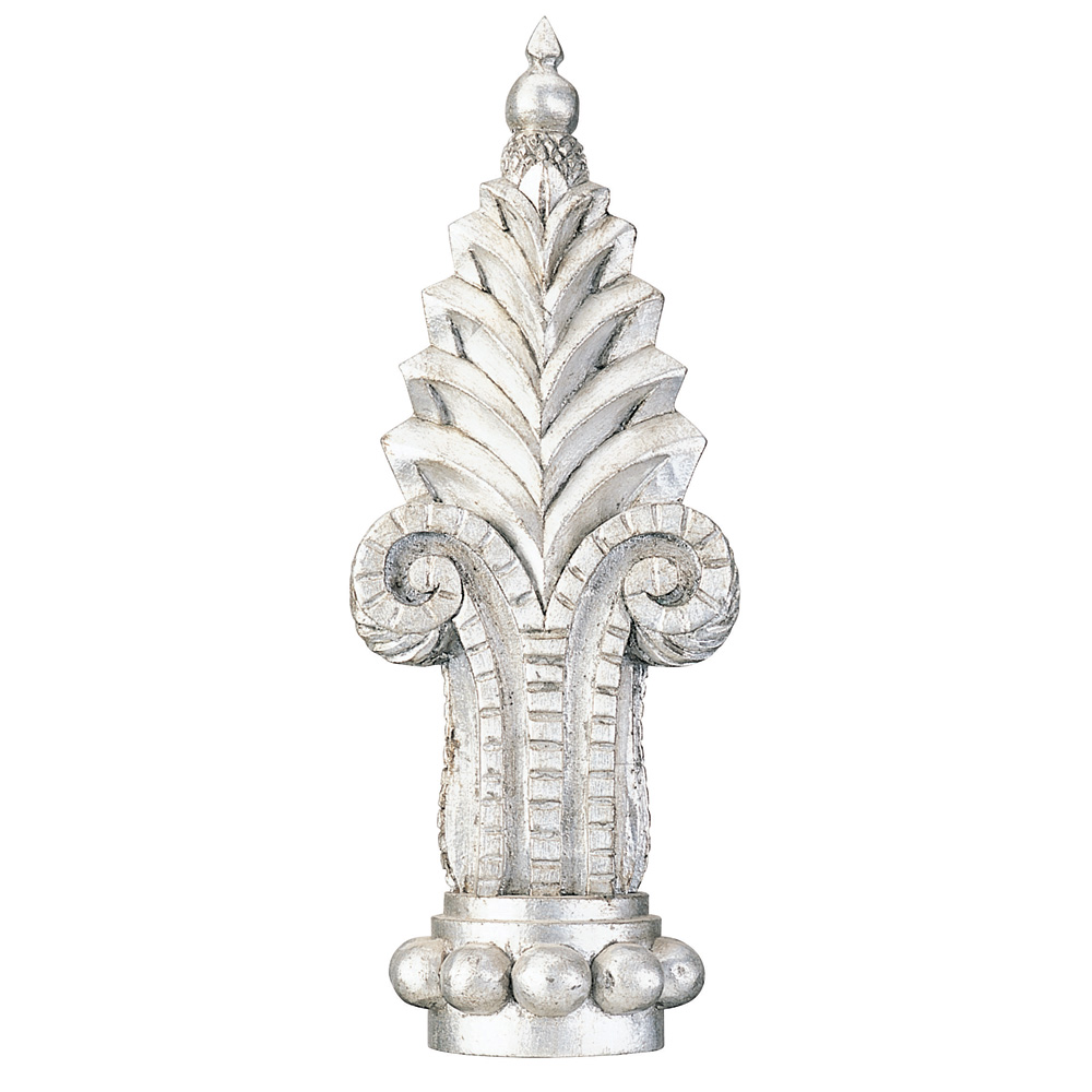 Crown finial, distressed silver Dutch Metal Leaf
