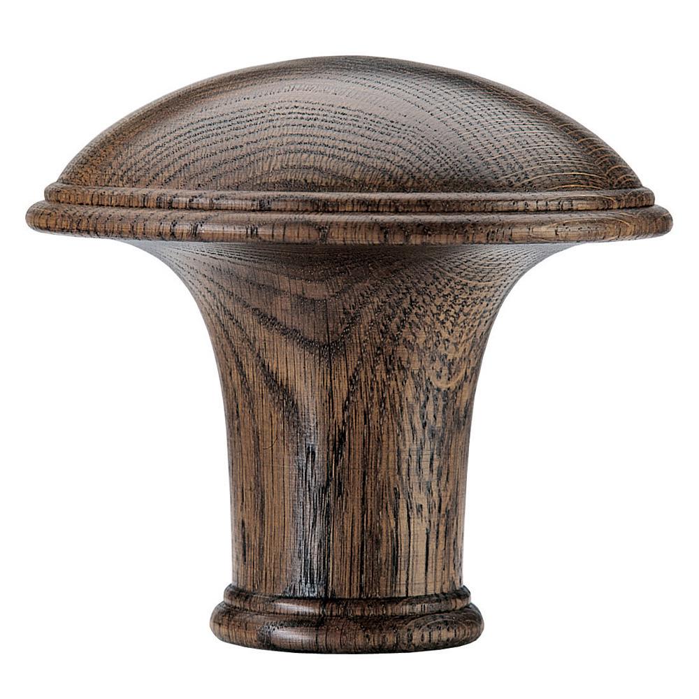 Dome finial, medium oak
