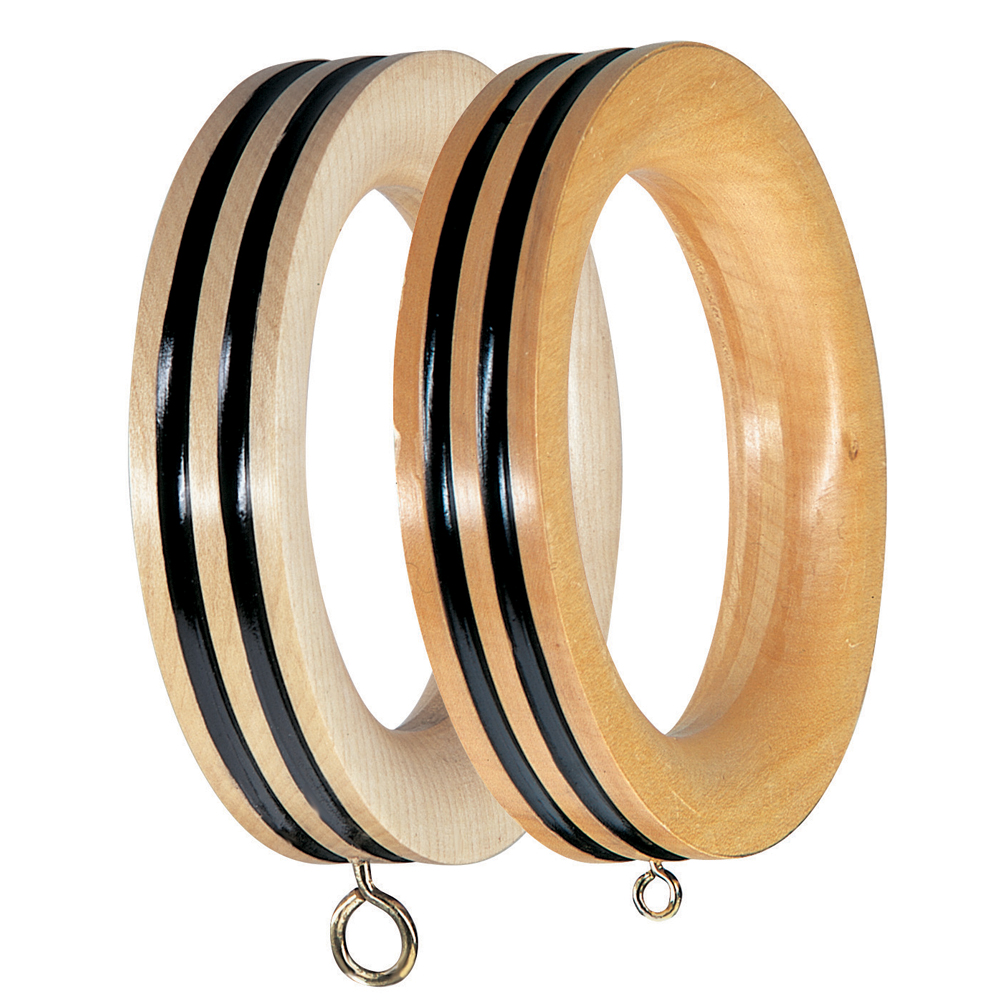 double-lined profile curtain pole rings