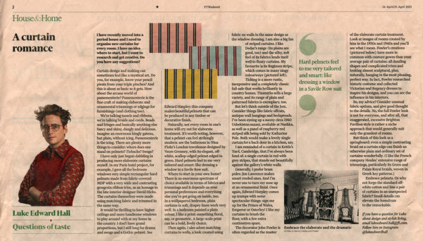 FT Weekend – House & Home – April 2021