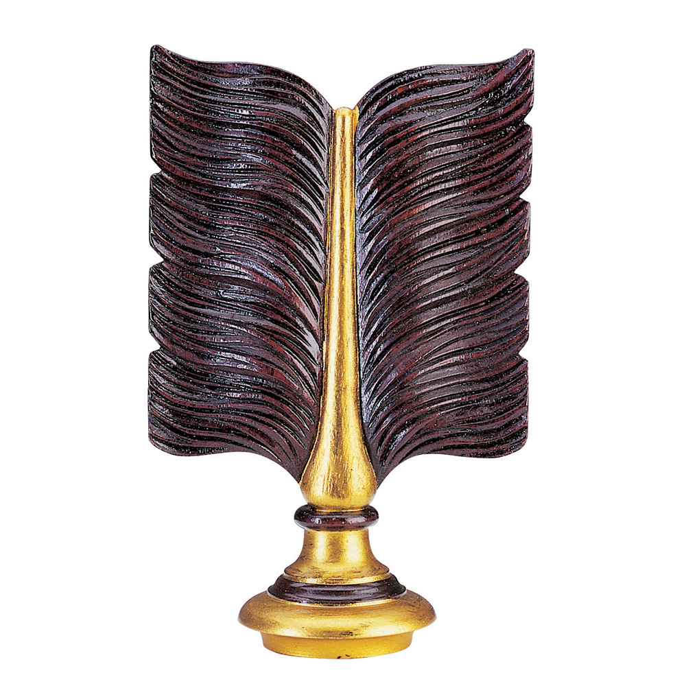 Flight B finial, mahogany and gilt