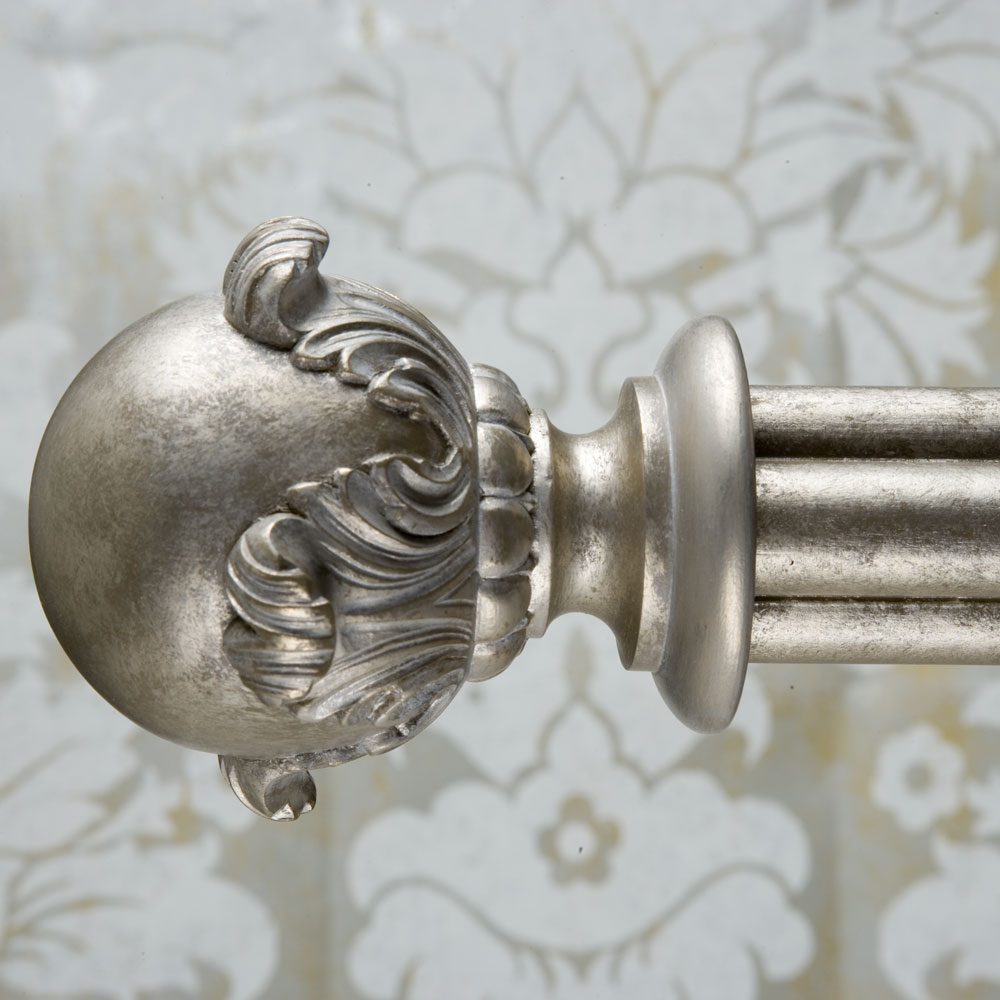 Gothic curtain pole