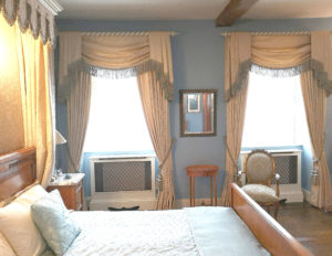 The French Bedroom with Open Twist Curtain Poles