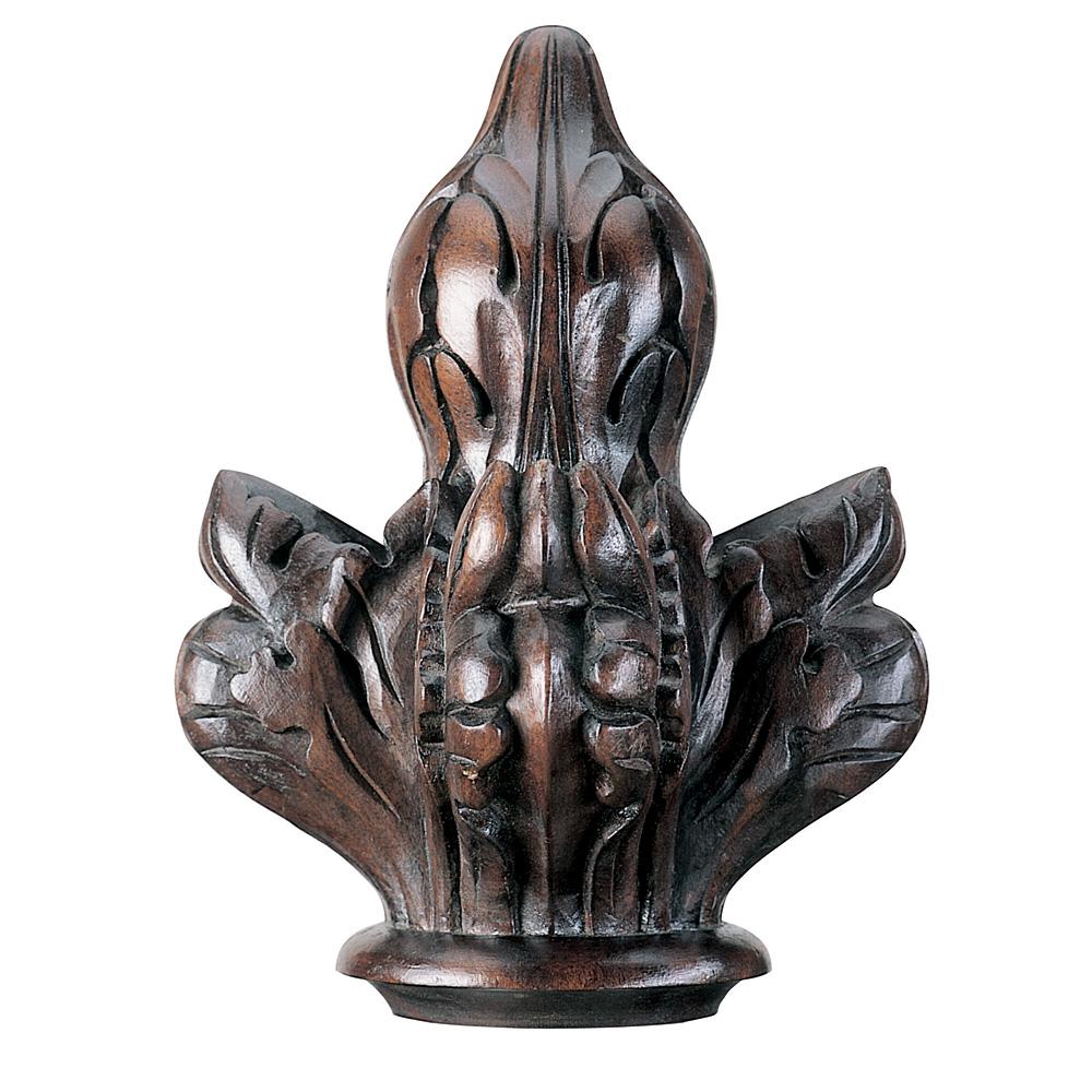 Lambeth finial, mahogany