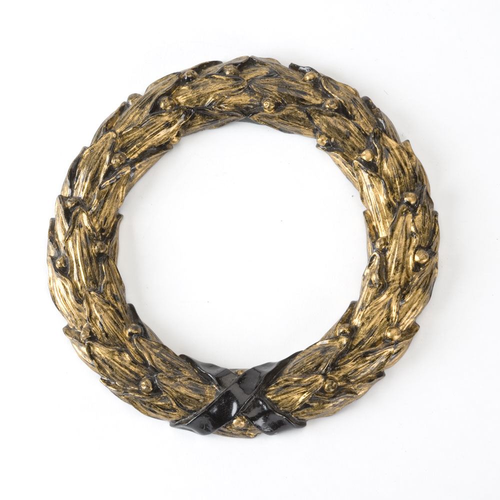 Laurel Wreath centrepiece, distressed black and gilt