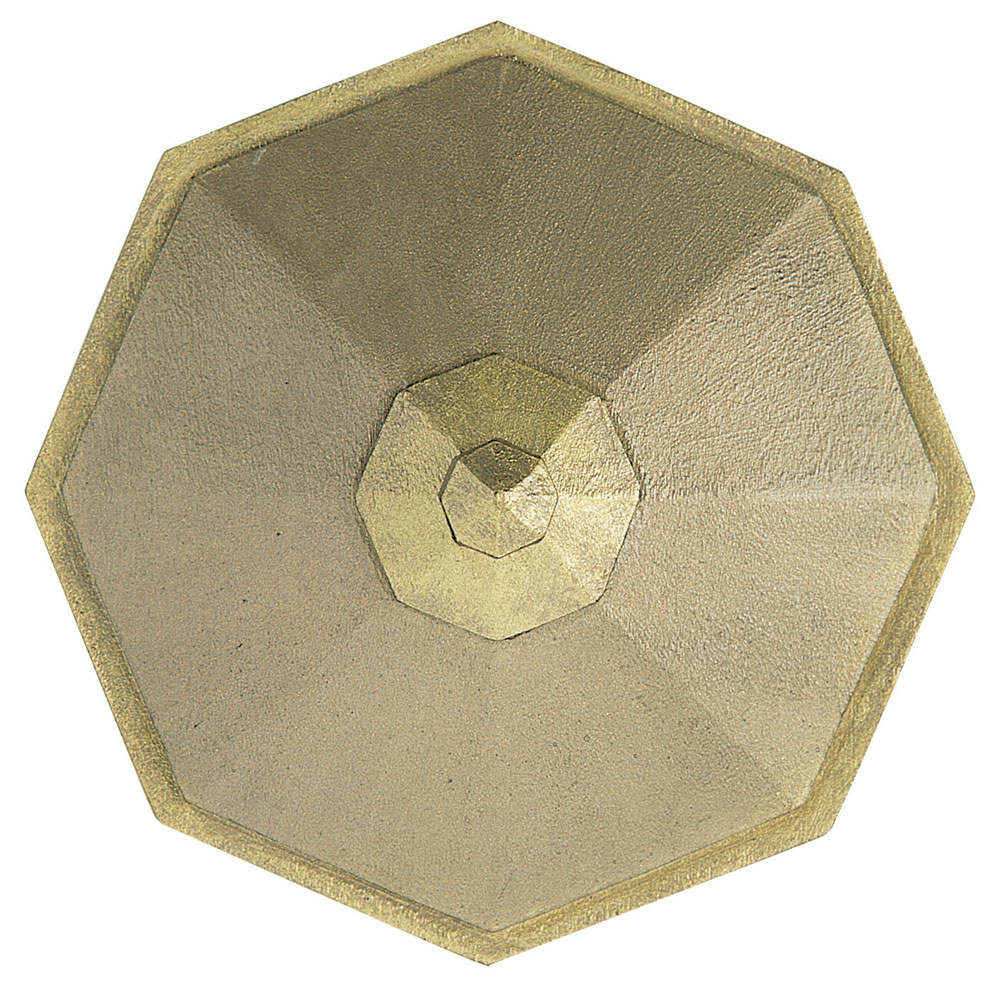 Octagon tieback, distressed green gilt