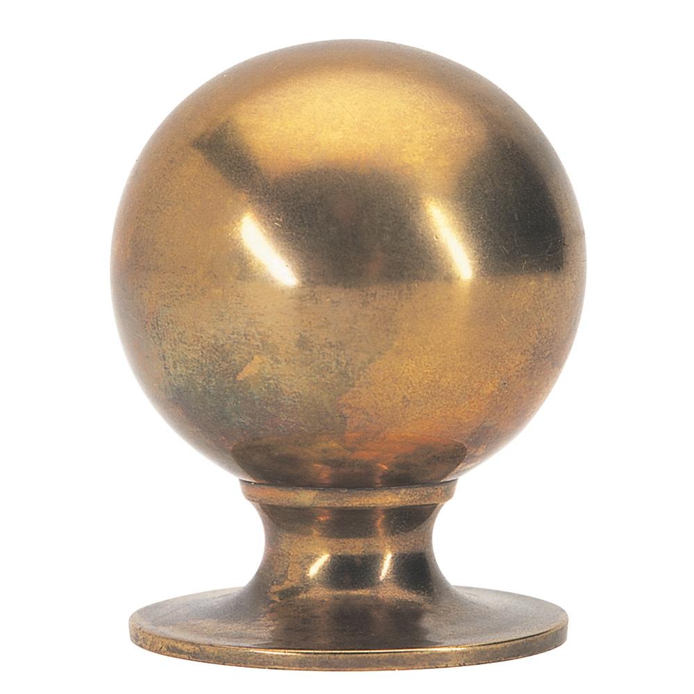 Plain Ball finial, brass