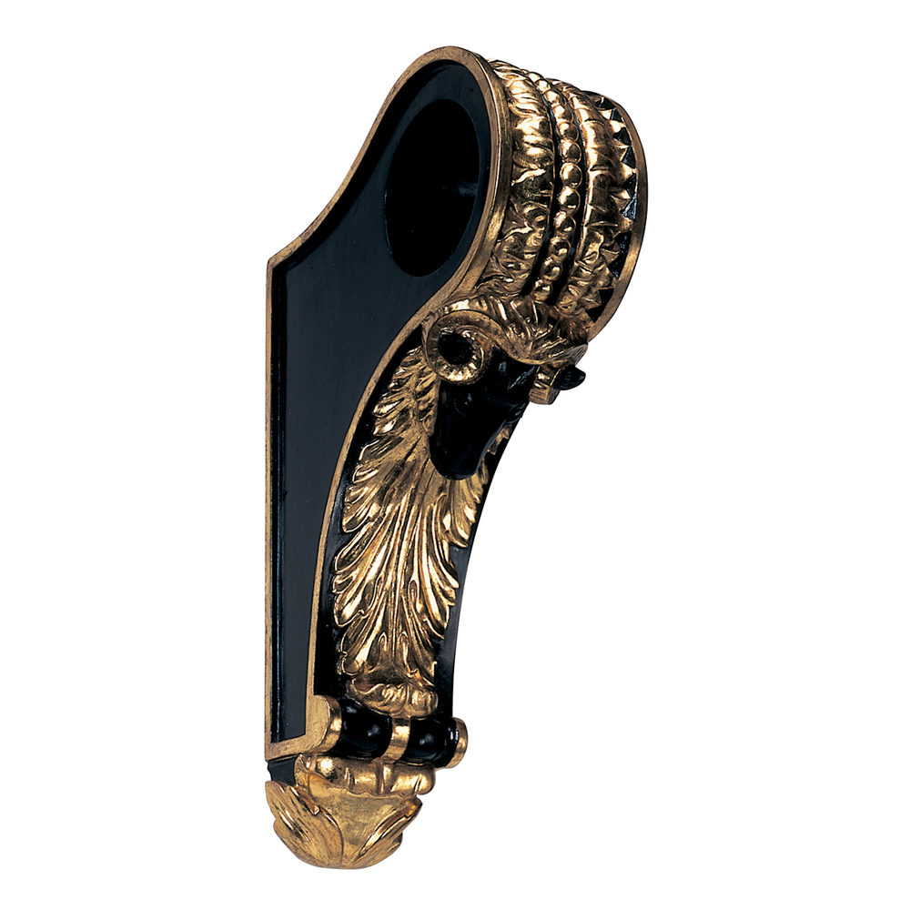 Ram's Head bracket, black and Water Gilt Gold Leaf