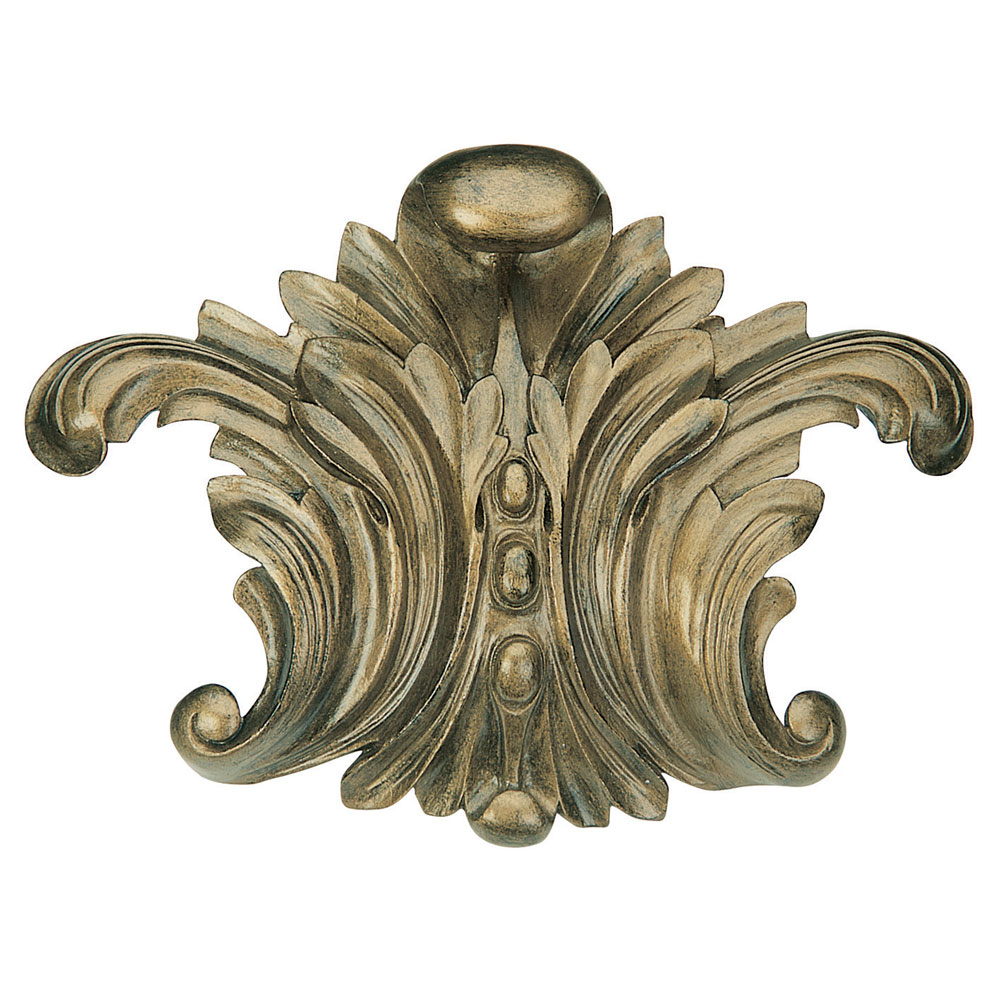 Scroll Leaf centrepiece, bronze finish