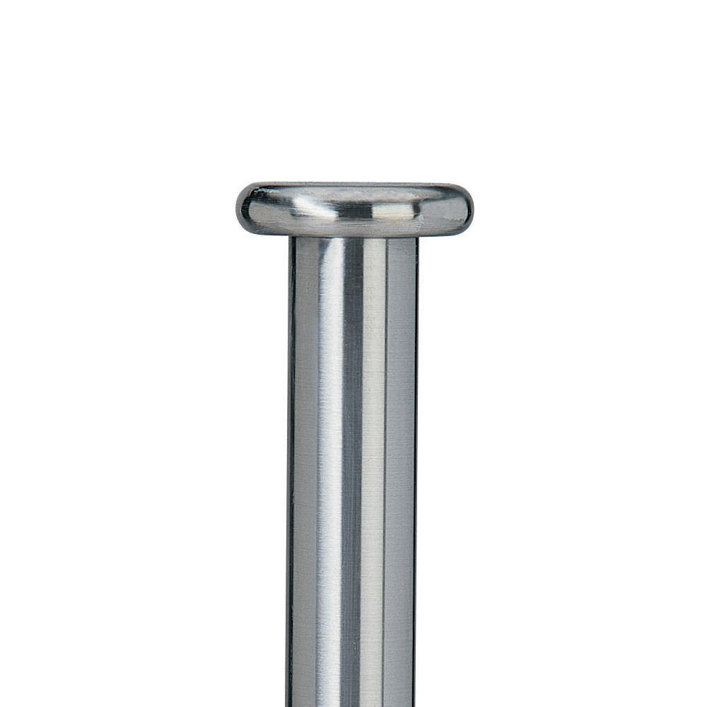 Button finial, steel