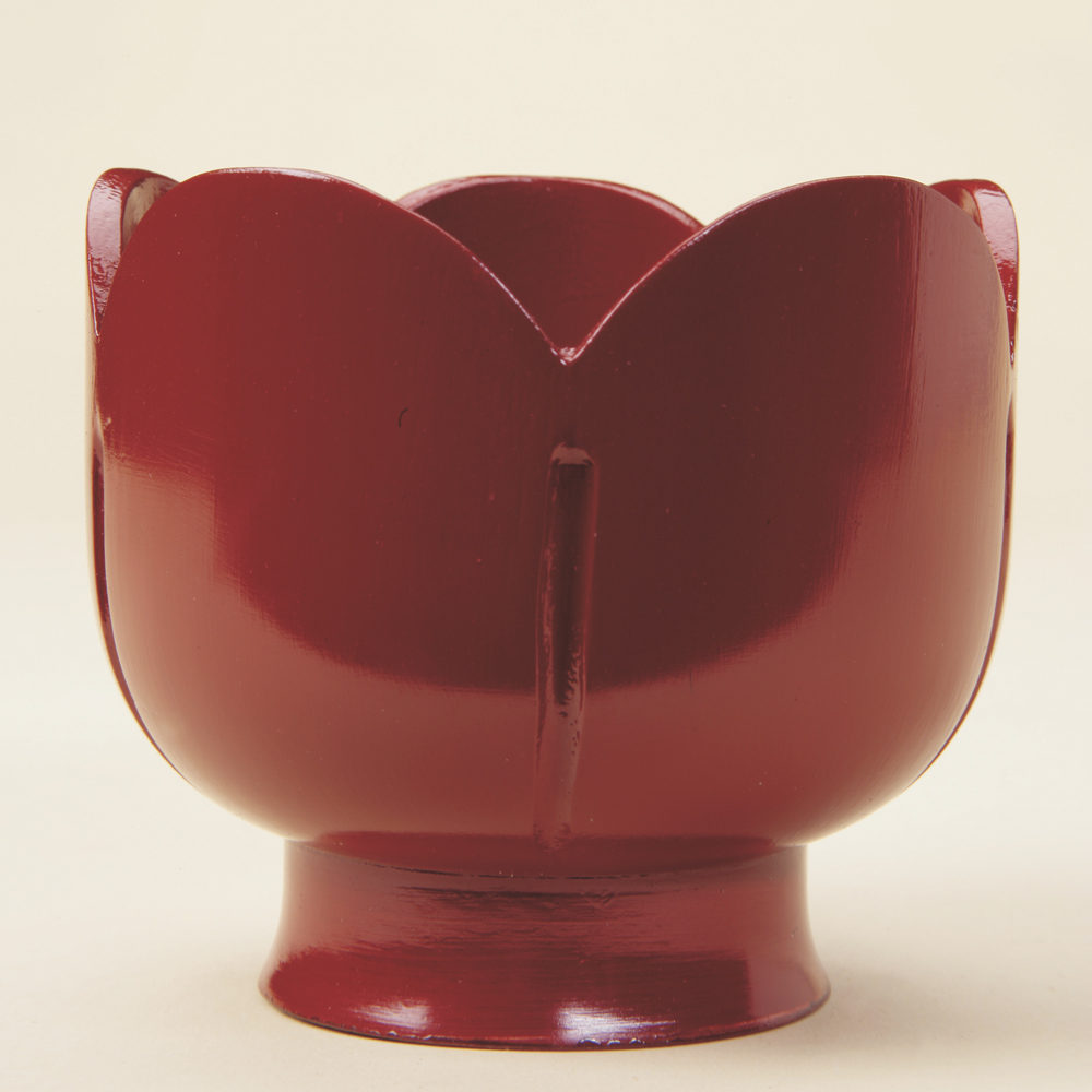 Lian finial, red lacquer