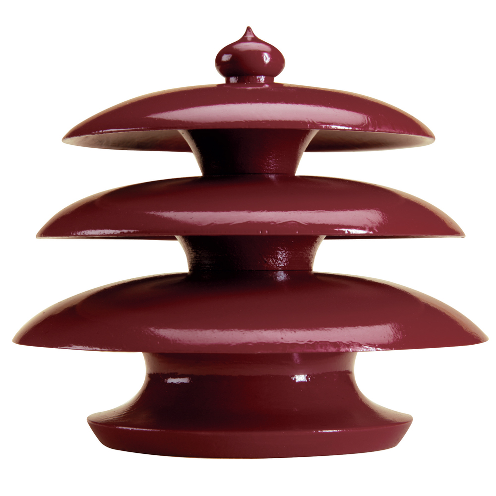 Pagoda finial, red lacquer