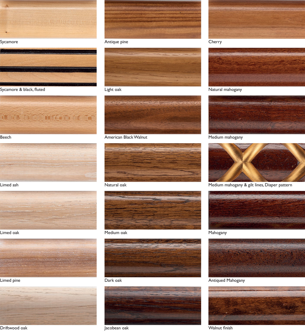 wood finish samples